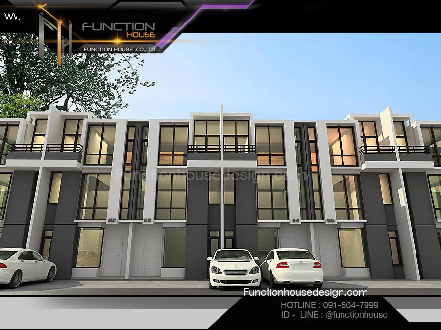 ออกแบบโครงการบ้านอาคารพาณิชย์  โดย Functionhouse