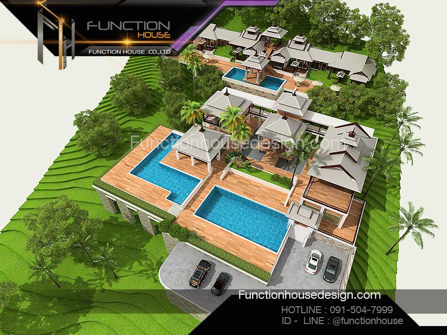 ออกแบบโครงการบ้านอาคารเกสต์เฮ้าส์ รับสร้างบ้าน แบบบ้านสวย โดย Functionhouse
