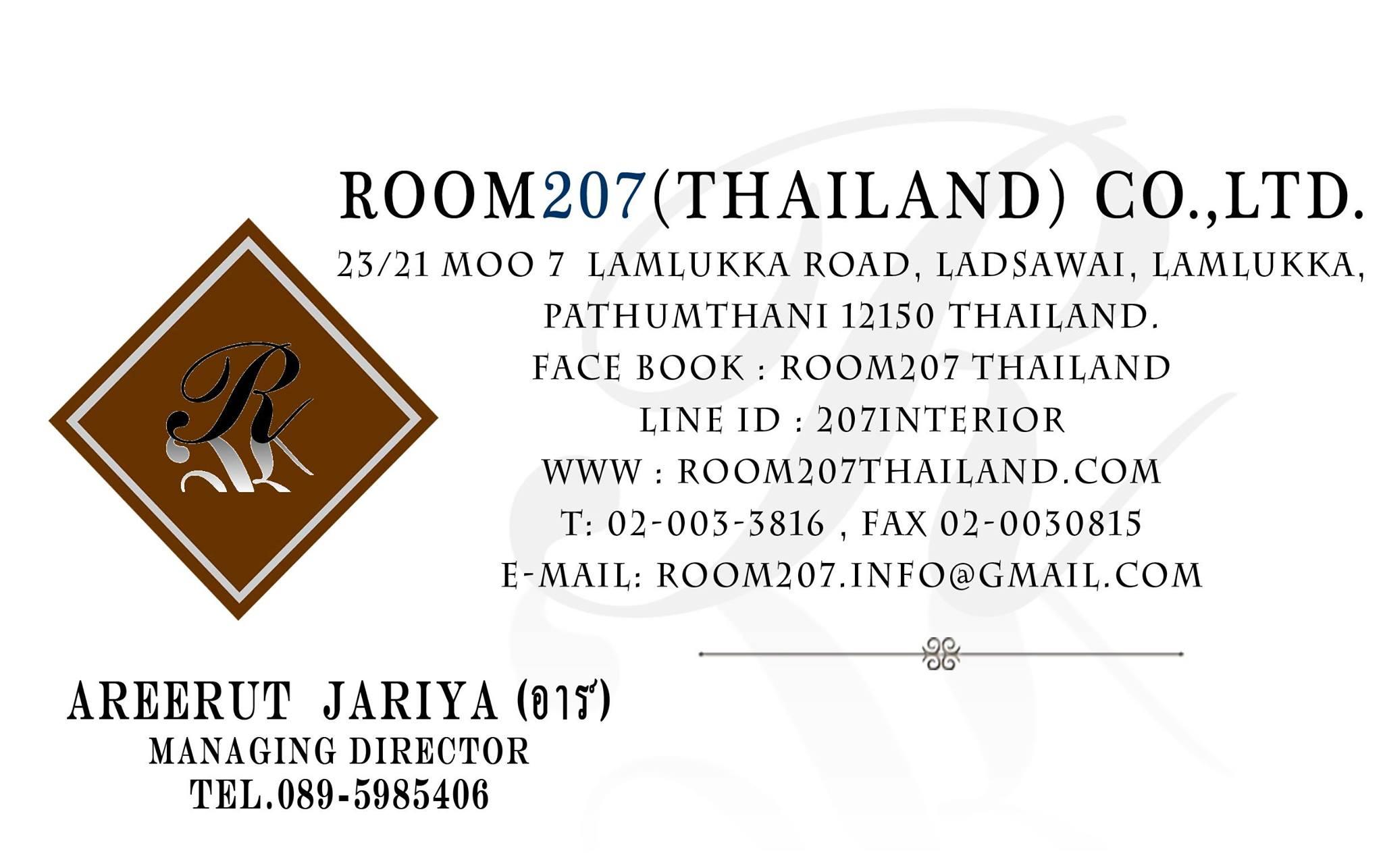 Room207thailand รับออกแบบตกแต่งภายใน